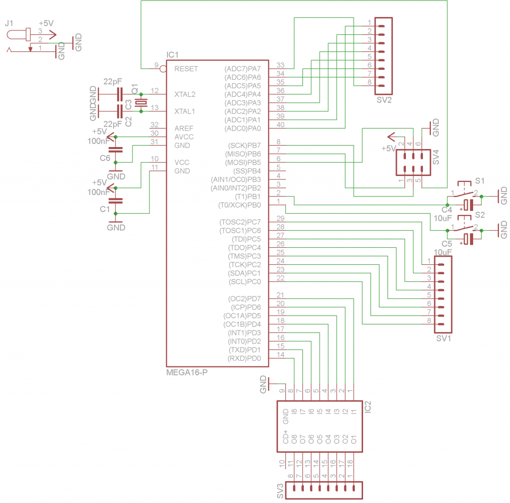 Wordclock Controller Schematic